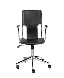 Terry Office Chair with Chromed Steel Base