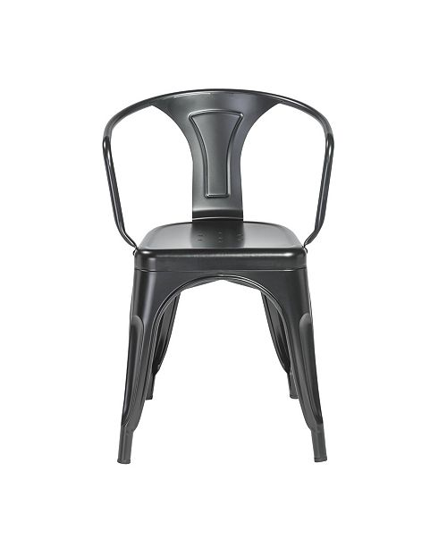 Euro Style Corsair Stacking Arm Chair - Set Of 4