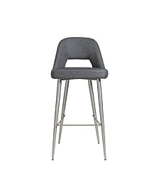 Blair-B Bar Stool with Brushed Stainless Steel Legs