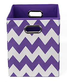 Color Pop Chevron Folding Storage Bin