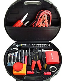Auto Roadside Emergency Tool Kit - 132 Pieces