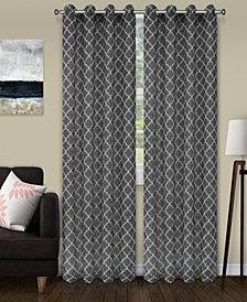 "Superior Lightweight Trellis Sheer Curtain Panels, (2), 52"" x 96"""