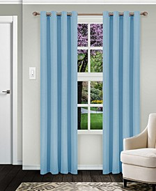 "Solid Textured Blackout Curtain, Set of 2, 52"" x 96"""