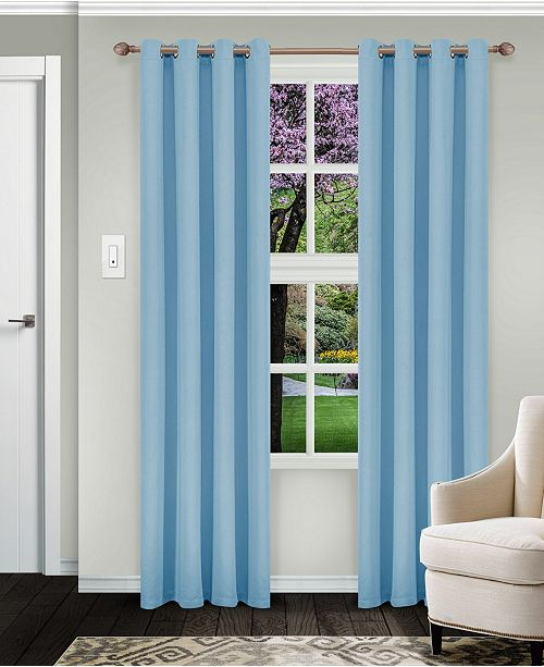 """Superior Solid Textured Blackout Curtain, Set of 2, 52"""" x 96"""""""