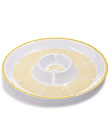 Martha Stewart Collection Citrus Melamine Chip & Dip Tray, Created for Macy's