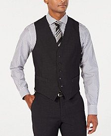 Men's Portfolio Slim-Fit Stretch Black Solid Suit Vest