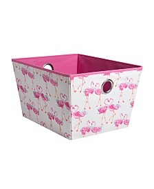 Laura Ashley Kids Medium Grommet Storage Bin in Pretty Flamingo