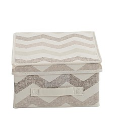 The Macbeth Collection Closet Candie Medium Storage Box in Textured Chevron