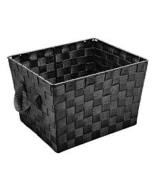 Simplify Small Woven Storage Bin in Black