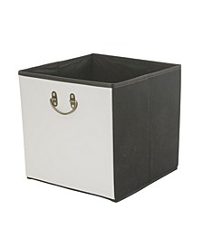 Faux Leather Collapsible Storage Cube in Gray