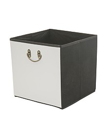 Simplify Faux Leather Collapsible Storage Cube in Gray