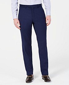 Men's Portfolio Slim-Fit Stretch Navy Solid Suit Pants