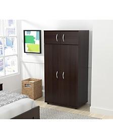 Inval America Four Door Wardrobe/Armoire