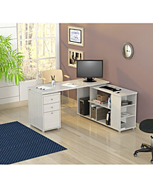 Inval America L-Shaped Computer Work Center-OVER-MAX