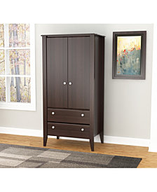 Inval America Two Door Two Drawer Wardrobe/Armoire-OVER-MAX