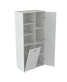 Utility Storage Cabinet with Tilt Bin