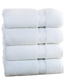 Lezeth Collection Super Soft Zero Twist Oversize Bath Sheet (4 Pack)