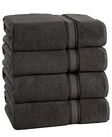 Super Soft Zero Twist Oversize Bath Sheet (4 Pack)