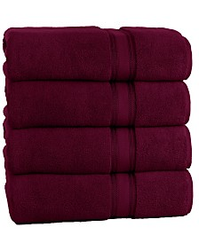Lezeth Collection Super Soft Zero Twist Oversize Bath Sheet (4 Pack)