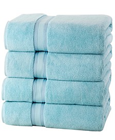 Super Soft Zero Twist Cotton Bath Towels (4 Pack)