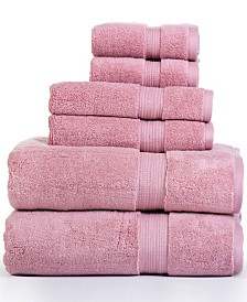 Aerosoft 100% Zero Twist Cotton Oversized 6 Piece Towel Set