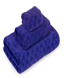 Casa Platino 3D Diamond Fine Cotton Jacquard 3-Pc. Towel Set