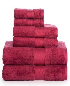 Image of AeroSoft Premium Combed Cotton 700 Gsm 6 Piece Towel Set Bedding
