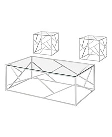 Rosemeade Metal 3-Piece Table Set