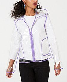 Jou Jou Juniors' Hooded Slicker Raincoat