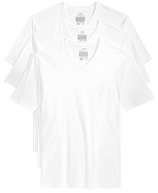 Men's Underwear, Big & Tall Tagless V Neck 3 Pack Undershirts