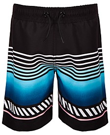 Toddler Boys Striped Swim Trunks, Created for Macy's