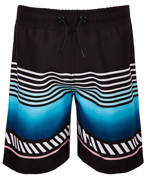 Ideology Little Boys Striped Swim Trunks, Created for Macy's