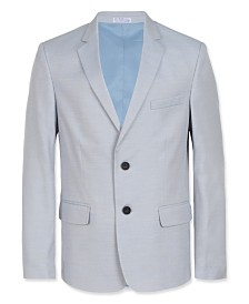Calvin Klein Big Boys Slim-Fit Striated Twill Suit Jacket