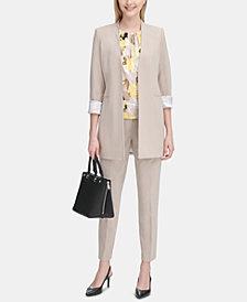 Calvin Klein Roll-Tab Topper Jacket & Straight-Leg Pants