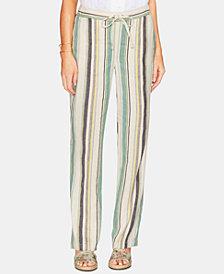 Vince Camuto Striped Linen Drawstring Pants
