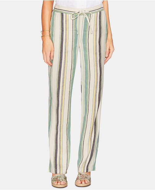bcca36a3e9f Vince Camuto Striped Linen Drawstring Pants   Reviews - Pants ...