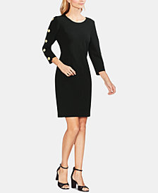 Vince Camuto Buttoned Shift Dress