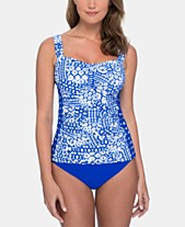 1fe8c7c0e2445 Profile by Gottex Printed Tankini Top   High-Waist Bottoms