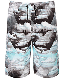 Ideology Big Boys Beach-Print Swim Trunks, Created for Macy's