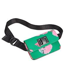Steve Madden Roman Numeral & Floral Belt Bag
