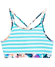 Ideology Big Girls Striped Bikini Top, Created for Macy's
