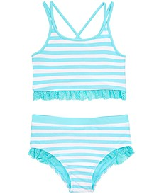 Toddler Girls 2-Pc. Striped Tankini, Created for Macy's