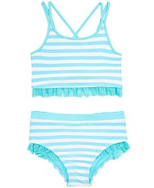 Ideology Little Girls 2-Pc. Striped Tankini, Created for Macy'