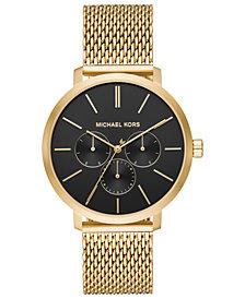Michael Kors Men's Blake Gold-Tone Stainless Steel Mesh Bracelet Watch 42mm