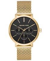 98fc2121866a Michael Kors Men s Blake Gold-Tone Stainless Steel Mesh Bracelet Watch 42mm