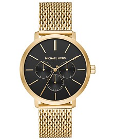 Michael Kors Men's Blake Gold-Tone Stainless Steel Mesh Bracelet Watch 42mm