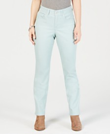 Style & Co Tummy-Control Straight-Leg Fashion Jeans, Created for Macy's