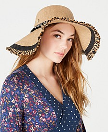 Braided Pom Pom Floppy Hat