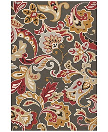 "KAS Harbor Flora 4213 Taupe 3'3"" x 5'3"" Indoor/Outdoor Area Rug"