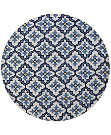 "CLOSEOUT! Harbor Mosaic 7'6"" Indoor/Outdoor Round Area Rug"
